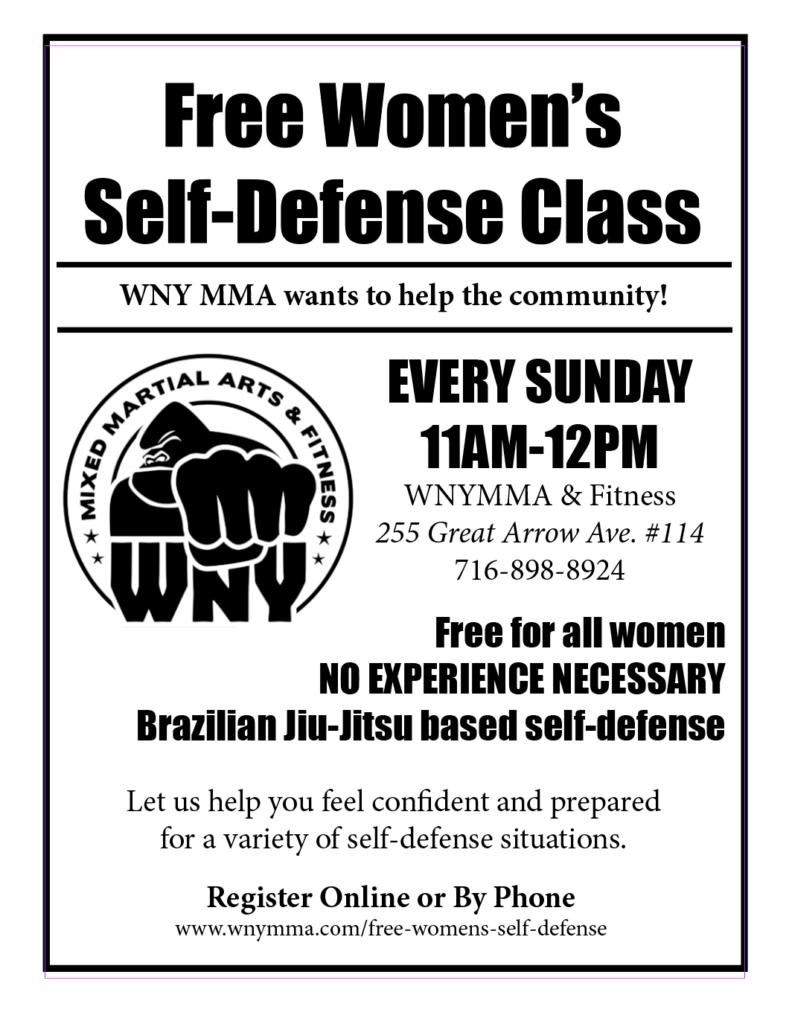 Weekly Women's Self Defense