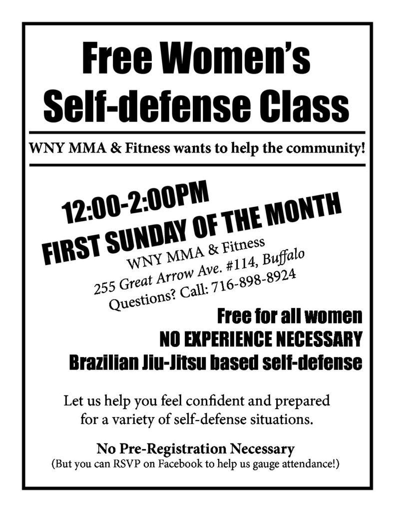 WNY MMA & Fitness Free Women's Self Defense