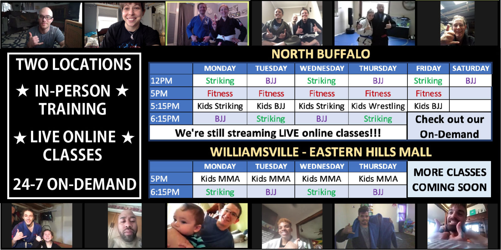 Join our live online classes!